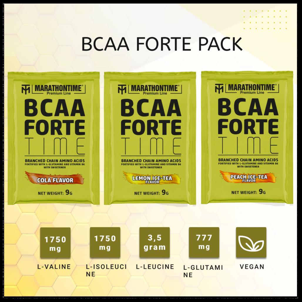 BCAA Forte Time 9 g citromos jeges-tea íz új izomépítő Marathontime formula prémium minőség