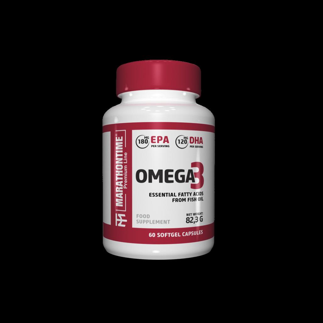 Omega 3   étrend-kiegészítő Marathontime 60db prémium minőség