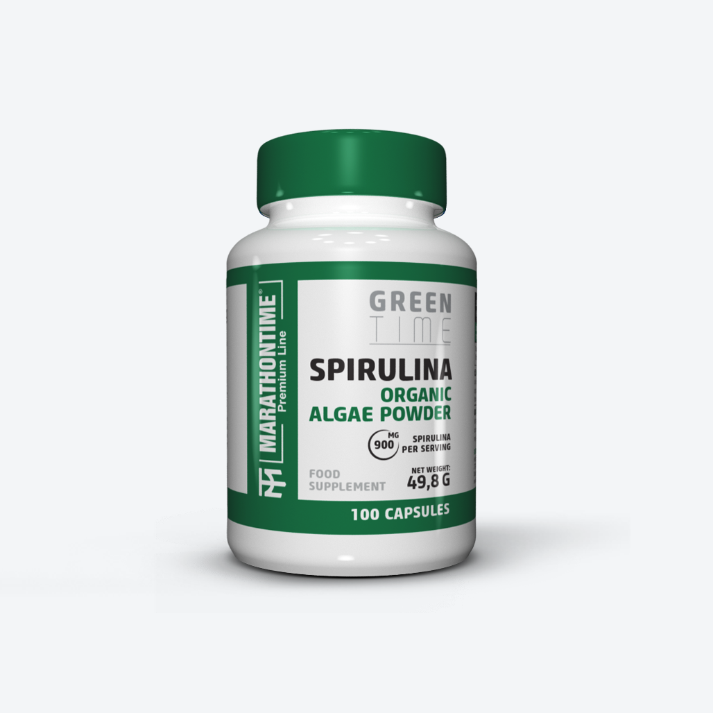 Spirulina  étrend-kiegészítő Marathontime 60db prémium minőség