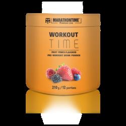 Marathontime Premium Line Workout Time Gyümölcs Puncs ízű instant protein por 210g