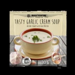 Tasty garlic cream soup