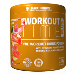 Pre-workout Time Plus 210 g gyümölcs puncs íz