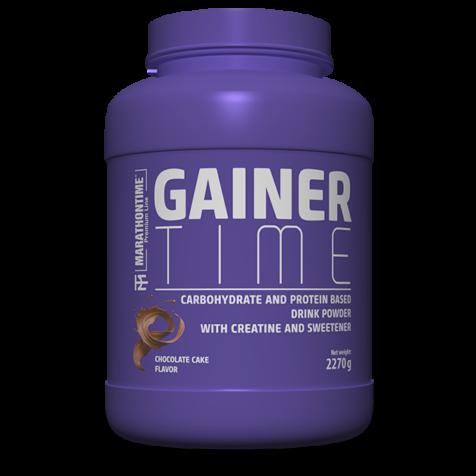 Gainer Time 2270g tömegnövelő   új étrend-kiegészítő Marathontime prémium minőség világszínvonal