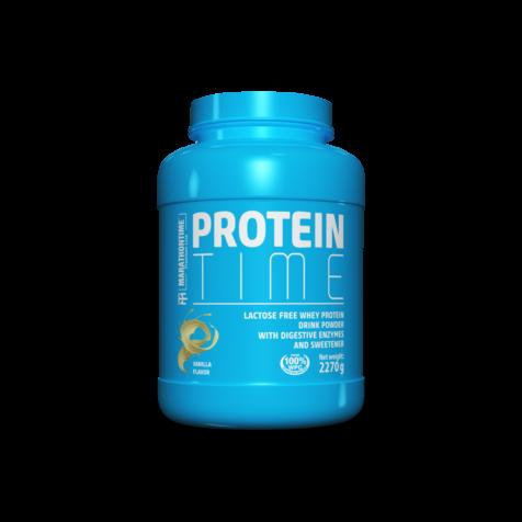Protein Time Laktózmentes 2270g Vanília íz  új formula étrend-kiegészítő Marathontime prémium minőség