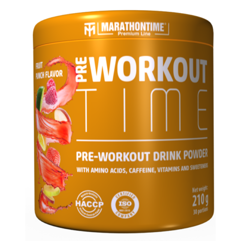 Pre-workout Time 210 g gyümölcs puncs íz  Marathontime