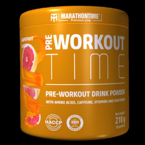 Pre-Workout Time 210 g grapefruit íz  Marathontime új generációs edzés előtti italpor