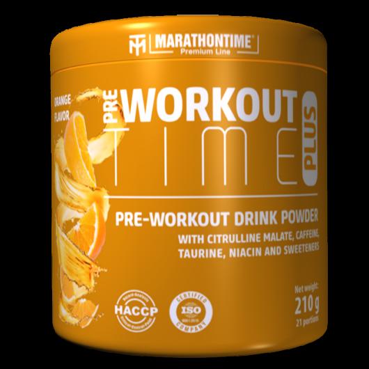 Pre-workout Time Plus 210 g narancs íz  új formula étrend-kiegészítő Marathontime prémium minőség