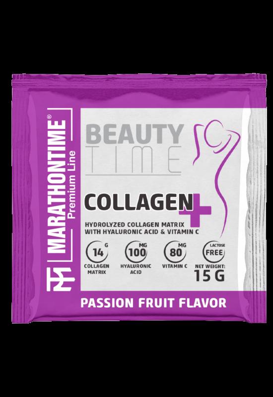 Collagen Plus 15g Passion Fruit íz  új formula étrend-kiegészítő Marathontime prémium minőség