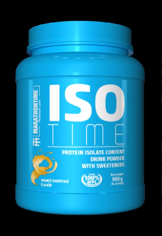 Iso Time 900 g mangó smoothie íz  új formula étrend-kiegészítő Marathontime prémium minőség