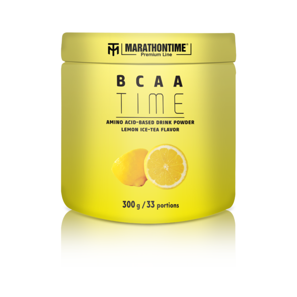 Marathontime Premium Line BCAA por Citromos Jeges Tea ízesítéssel 300g