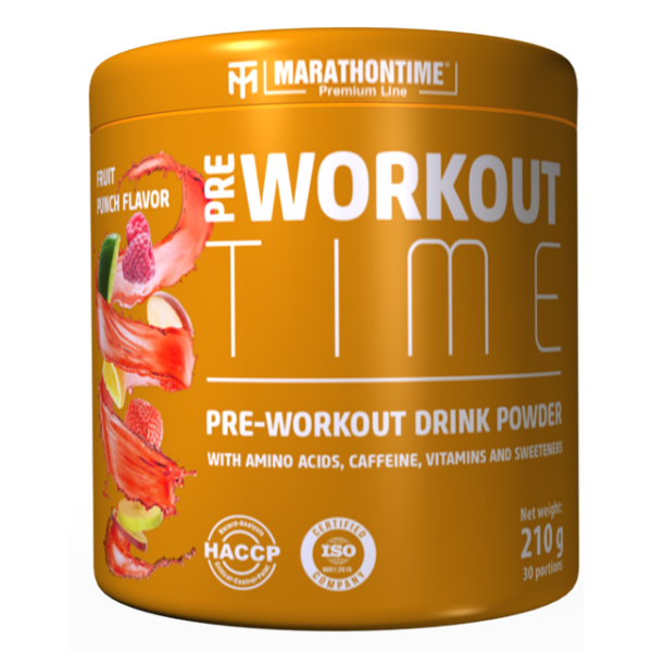 Pre-workout Time 210 g Fruit punch flavor