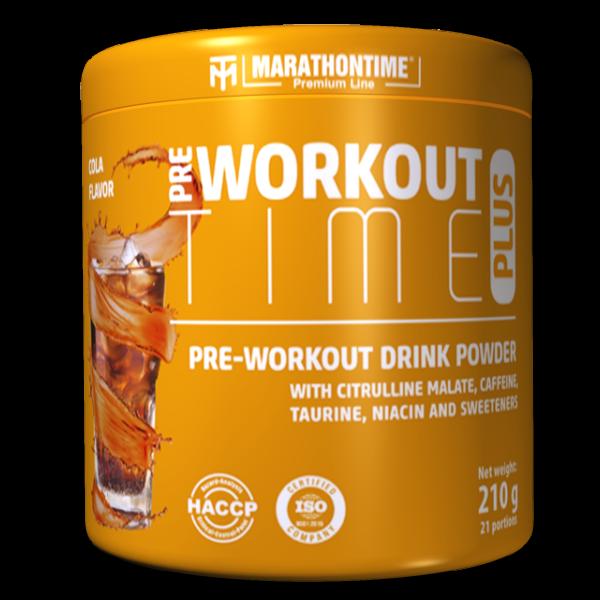 Pre-Workout Time Plus 210 g kóla íz