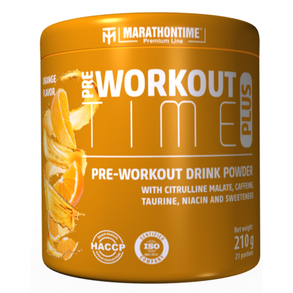 Pre-workout Time Plus 210 g narancs íz